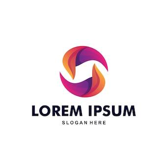 Красочный абстрактный буква s логотип премиум