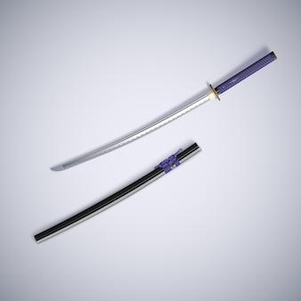 伝統的なsaの剣の3 dレンダリング