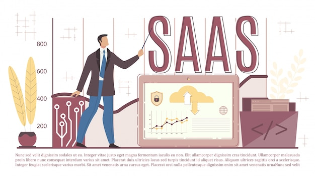 Saas service business infrastructure presentation