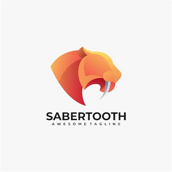 Saber tooth logo  and modern color