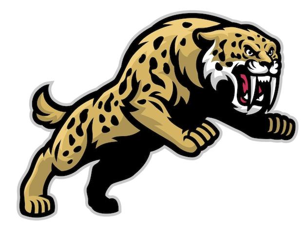 Sabretooth mascot jumping attack