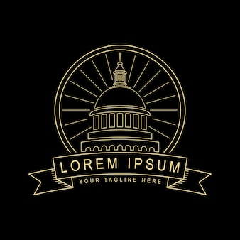 Sacramento logo line art style design