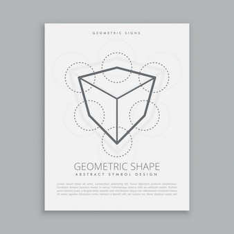 Sacred cube and circles poster