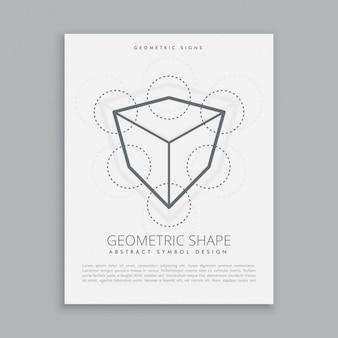 Sacred cube and circles poster