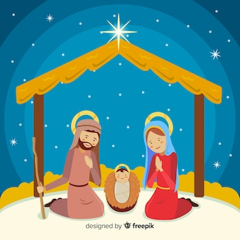 Sacred family nativity background