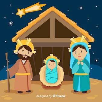 Sacred family nativity background