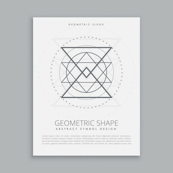 Sacred geometric sign poster