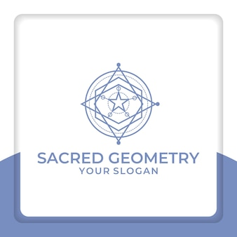 종교를 위한 신성한 기하학 로고 디자인