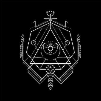 Sacred geometry tirangle magic