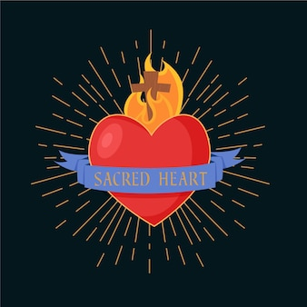 Священное сердце дизайн