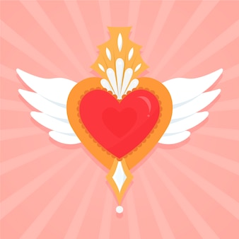Sacred heart illustrated design