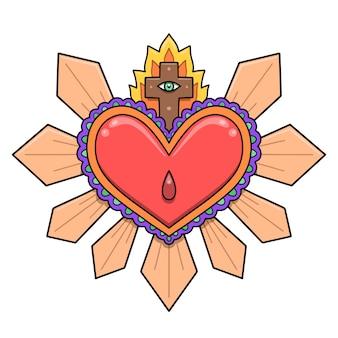 神聖な心のイラストデザイン