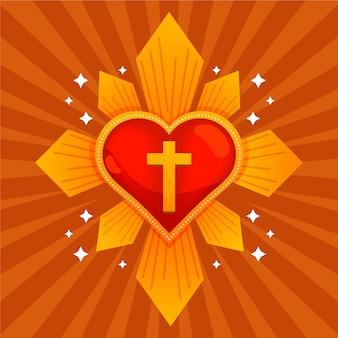 Sacro cuore con croce
