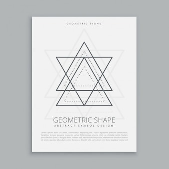 Sacred star and triangles poster
