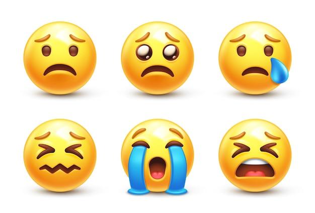 Sad 3d stylized emoji