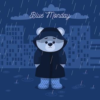 Carattere triste il lunedì blu