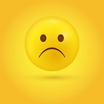 현대의 슬픈 인상을 찌푸리는 이모티콘 얼굴-슬픔 이모티콘