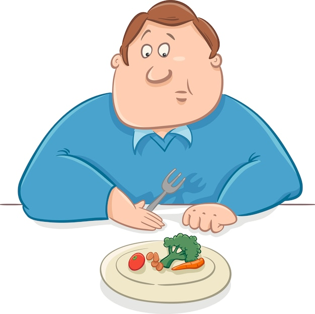 ダイエット漫画の悲しい男