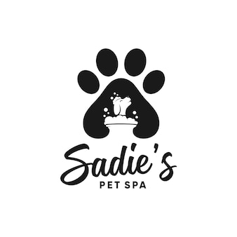 Sadies 애완 동물 스파 로고 디자인