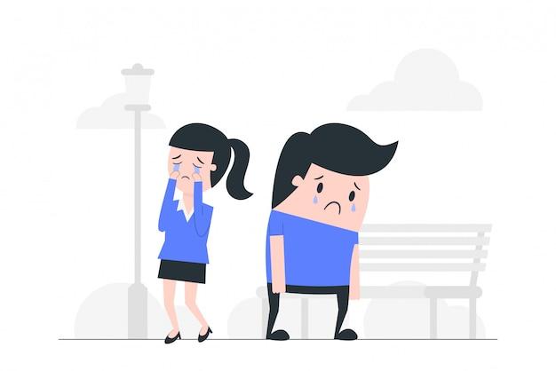 Sadness concept illustration.