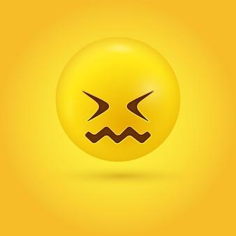 悲しみ交絡絵文字顔がくしゃくしゃになり、口がくしゃくしゃになっている
