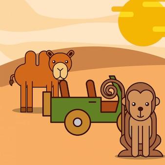Safari animals cartoon