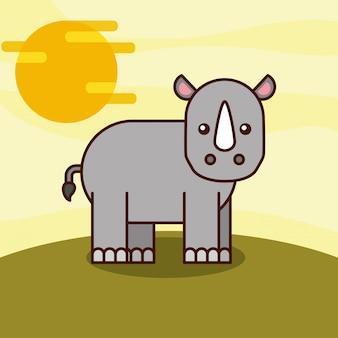 Cartone animato animali di safari