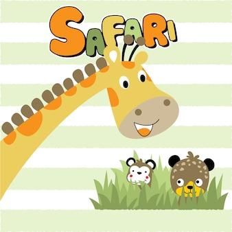 サファリ動物の漫画