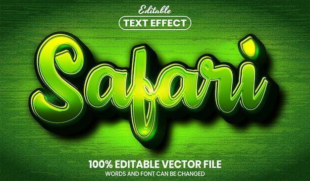 Safari text, font style editable text effect