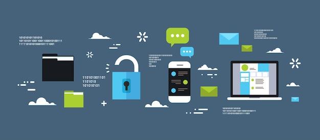安全な電子マネー保護のコンセプト
