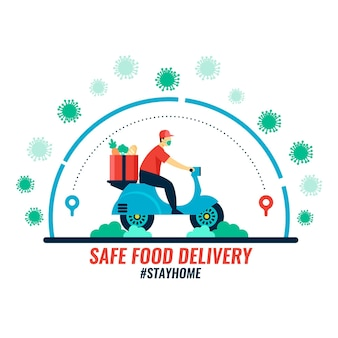 Safe food delivery concept
