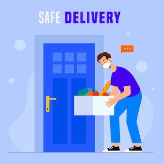 Safe food delivery concept