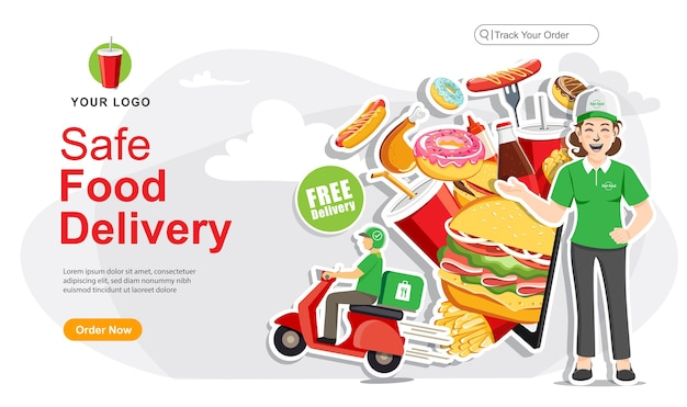 Safe food delivery order, food delivery service ,scooter delivery service