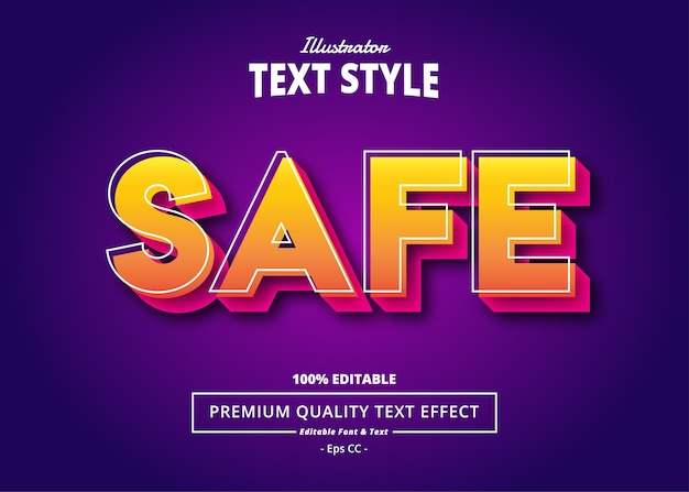 Safe  text effect