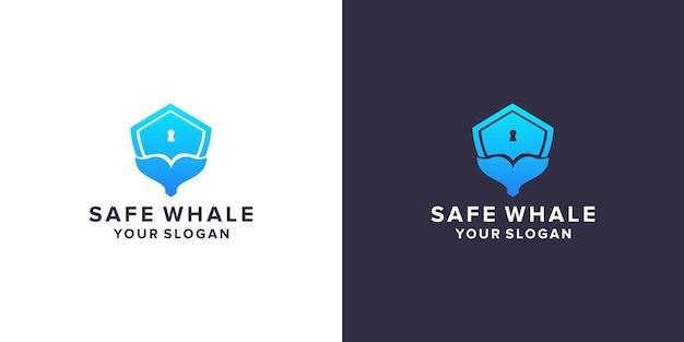 안전한 고래 로고 디자인