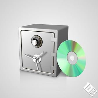 Safe with dick art object. vector illustration