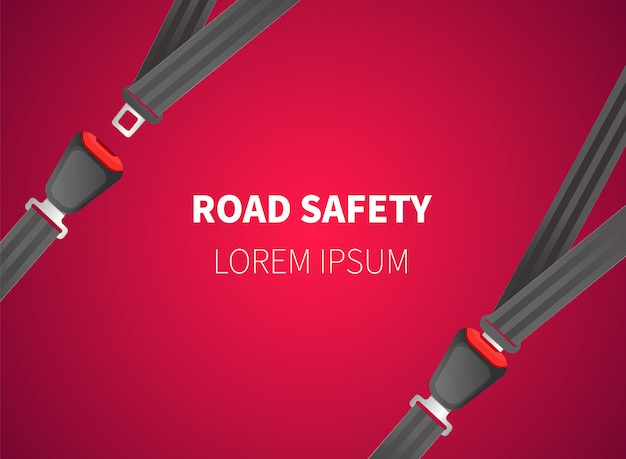 Safety belt vector illustration. cars seat belts.