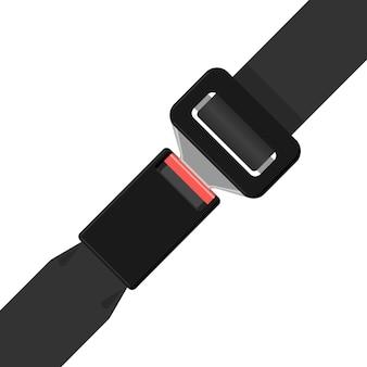 Safety black belt isolated on white background