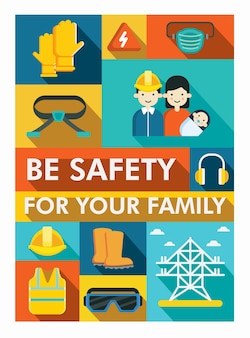 Safety campaign poster