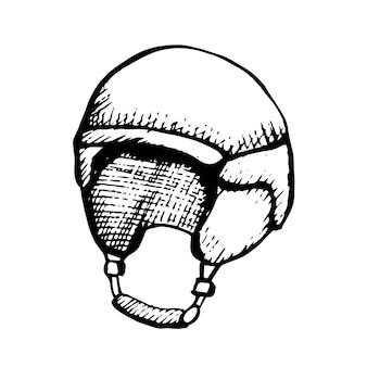 Защитный шлем с черным контуром