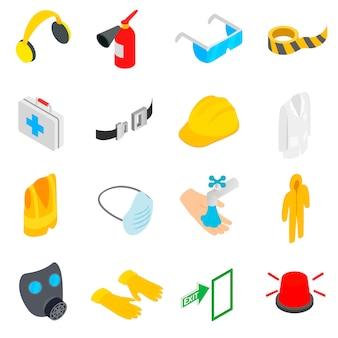 Safety icons set