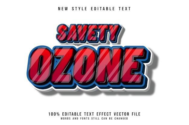安全オゾン編集可能なテキスト効果3次元エンボス漫画スタイル