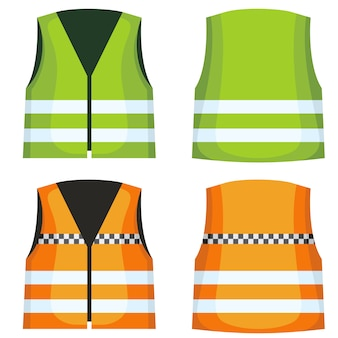 Safety road vest waistcoat