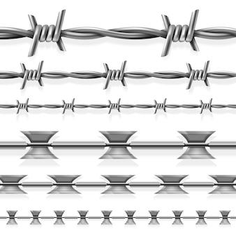 Безопасная стальная колючая и бритвенная проволока
