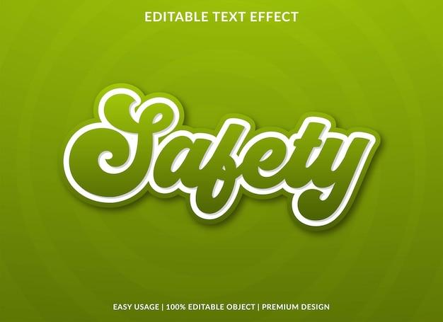 Шаблон текстового эффекта безопасности премиум стиль