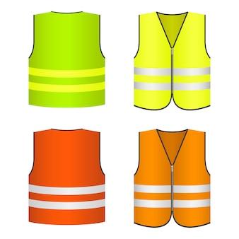 Safety vest   design illustration isolated