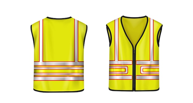 Safety vest in front and back view