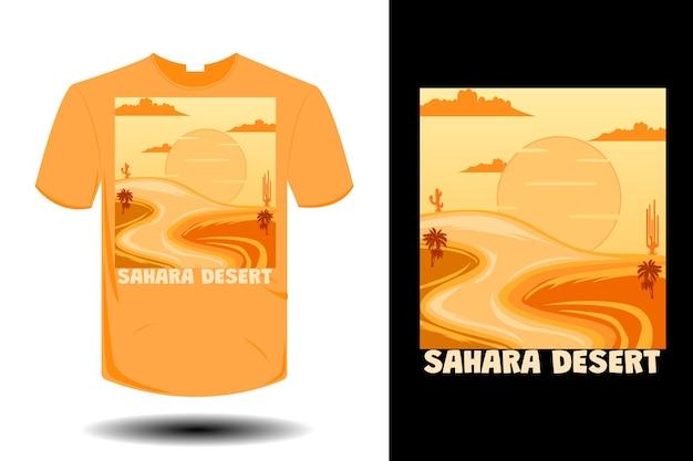 Sahara desert mockup retro vintage design