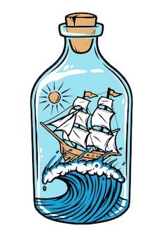 ボトルで帆走