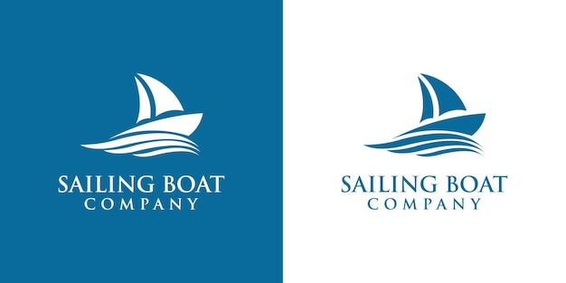 Sailboat logo design, the design is suitable for marine companies